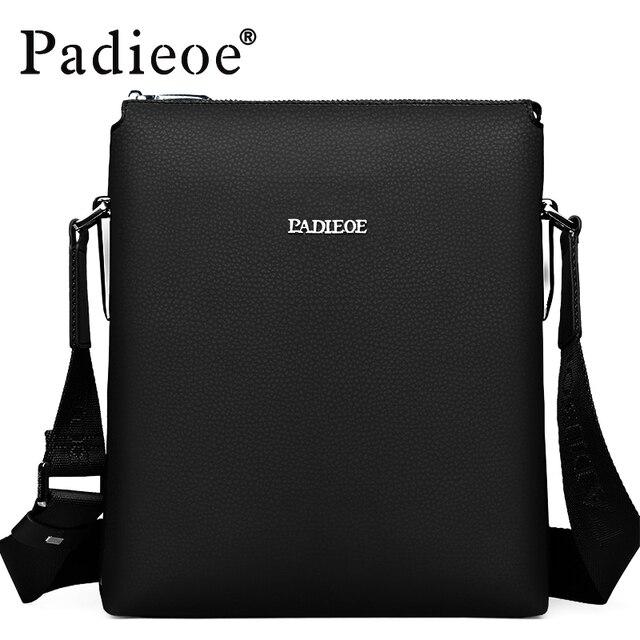 c4f99b686 Padieoe 2019 Best Quality Men's Shoulder Bags Messenger Bags Men Genuine  Leather Crossbody Sling Bags Leisure