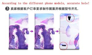 Image 3 - DIY Phone bag Personalized custom photo Picture PU leather case flip cover for Lenovo Z5S