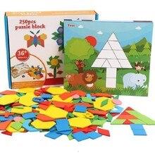 все цены на Wooden Tangram Montessori Toys 250 Pcs Classic Game Early Education Gifts Puzzle Blocks 46 онлайн