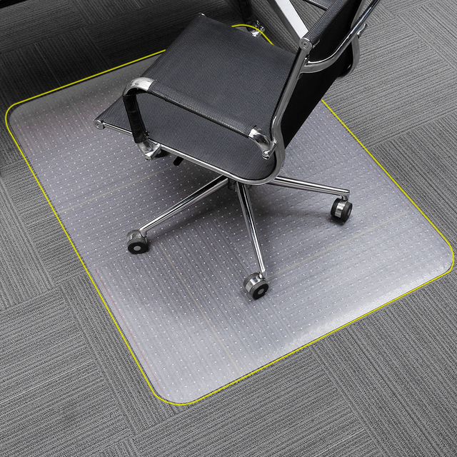 Translucent Rectangular Office Chair Mat