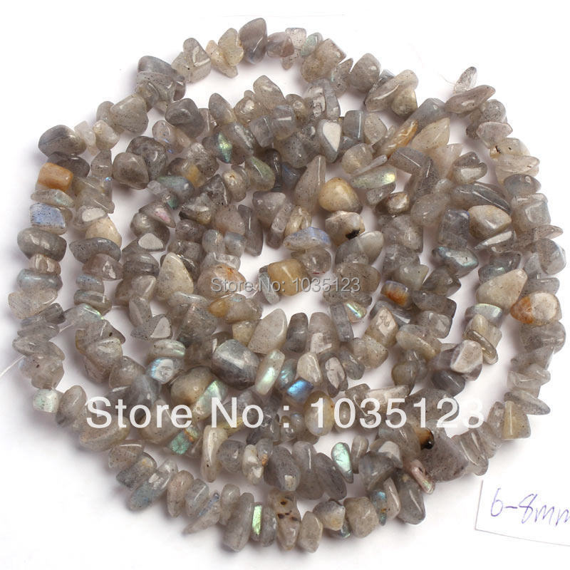 Loose-Beads Labradorite-Stone-Chip Jewelry-Making Strand Natural 5-8mm W405 85cm Gems