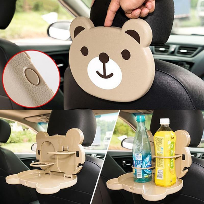 Складной автомобильный поднос в форме милого мультяшного героя, на заднее сиденье автомобиля, подставка для напитков и еды, Автомобильный м...