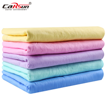 5PCS/Set 66*43*0.2CM Car Wash Natural Leather Chamois Shammy Auto Cleaning Glass Screen Furniture Clean Cloth 5Colors