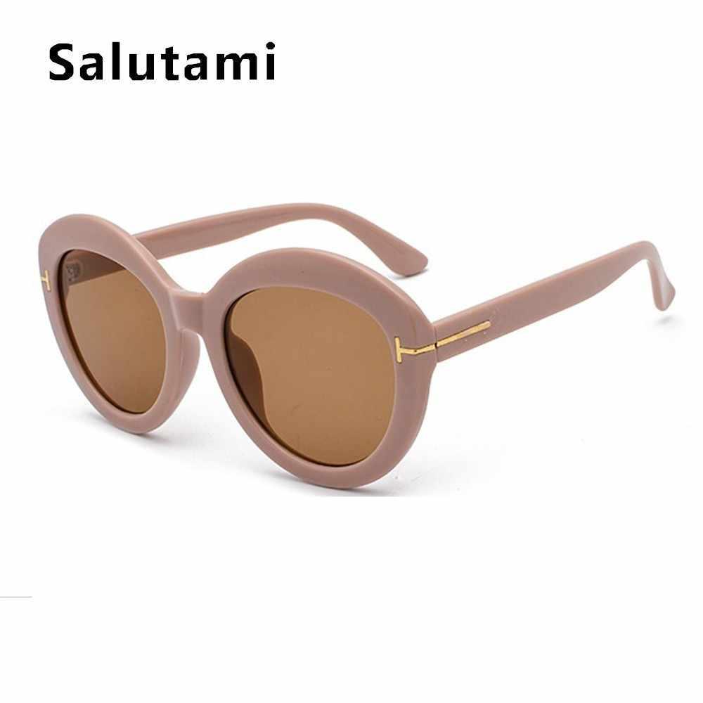 5db602b79 ... Black Round T Fashion Men Sunglasses Luxury Brand Vintage Retro  Oversize Sun Glasses Women White Goggle ...