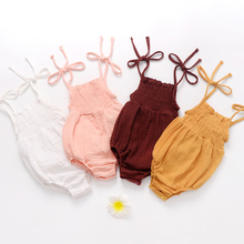 Lovely Newborn Toddler Infant Baby Girl Rompers Summer Sleeveless Backless Lace Jumpsuit Solid Romper Baby Girls Clothes Sunsuit 2017 summer baby girls clothes sleeveless watermelon infant bebes romper backless halter jumpsuit headband 2pcs outfit sunsuit
