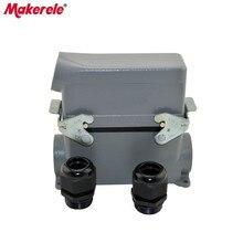MK-HE-024-3 HE series cheap waterproof male female 24 pin industrial amphenol heavy duty connectors