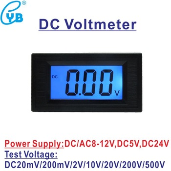 Voltímetro Digital LCD YB5135D, CC de 200mV, 2V, 20V, 200V, 500V, Panel de voltios, medidor de voltaje, voltímetro, fuente de alimentación de 8-12V 1