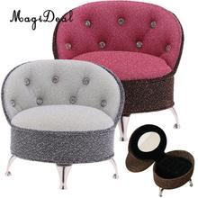 1/6 весы Европейский стиль одиночный диван стул с Стразы куклы дом спальня гостиная мебель украшение модель игрушки