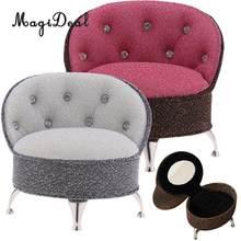 1/6 escala estilo europeu único sofá cadeira com strass bonecas casa quarto sala de estar mobiliário decoração modelo brinquedo
