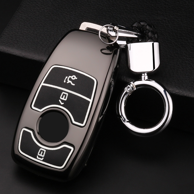 Zinc alloy+Luminous Car Key Case Remote Cover For Mercedes Benz W203 W210 W211 W124 W202 W204 W205 AMG E200 E260 E300 E320 W213 image