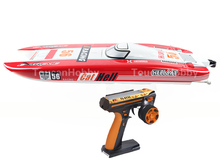 E51 RTR Dual Motors Electric RC Racing Boat W 120A ESC RadioSys 100kmh battery Red