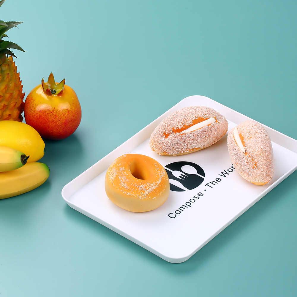 Plastik Dessert Buah Nampan Piring Snack Buah Mangkuk Piring Melayani Nampan Penyimpanan Hidangan Makanan Tray Piring Buah Nampan Persegi Panjang