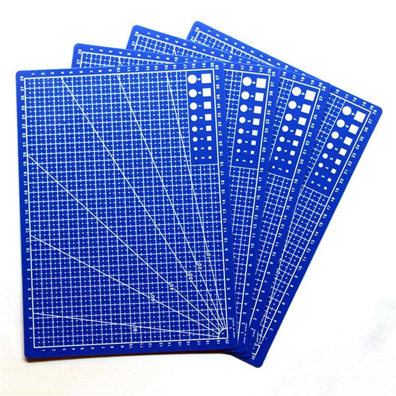 1 PCS A4 Grid Lines Cutting Mat Fabric Leather Craft Card Paper Board Handmade Diy Accessory Plastic Cutting Plate
