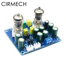 Cirmech tubo amplificador de vácuo hifi, placa preamplificadora de válvula eletrônica ac12v kit diy e produto acabado