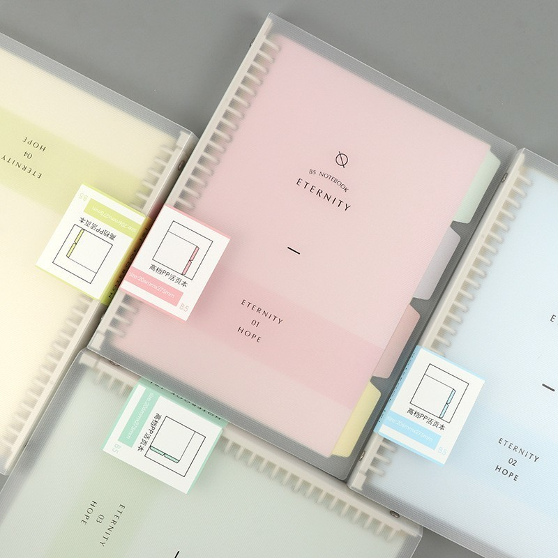 A5 B5 Macaron Colour Small Fresh Loose-leaf Notebook   Korea Simple Detachable Refill Student Note book Cute School SuppliesA5 B5 Macaron Colour Small Fresh Loose-leaf Notebook   Korea Simple Detachable Refill Student Note book Cute School Supplies