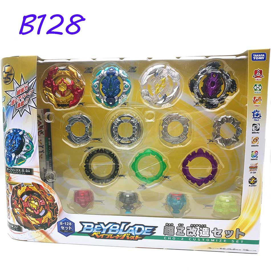 Takara Tomy Beyblade explosión B-128 Super Z 4 unids/set CHO-Z personalizar conjunto Bayblade ser hoja superior spinner juguete clásico