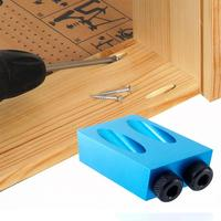 비스듬한 M6-10 구멍 각도 드릴링 로케이터 알루미늄 Woodworkers 가이드 핸드 툴 펀치 15도