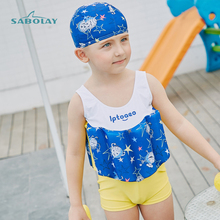 Easy To Put On Childrens Swimwear Boys Swimsuit Surfing Bathing Suit Rash Guard Comfortable Float Learn Swim More Safely