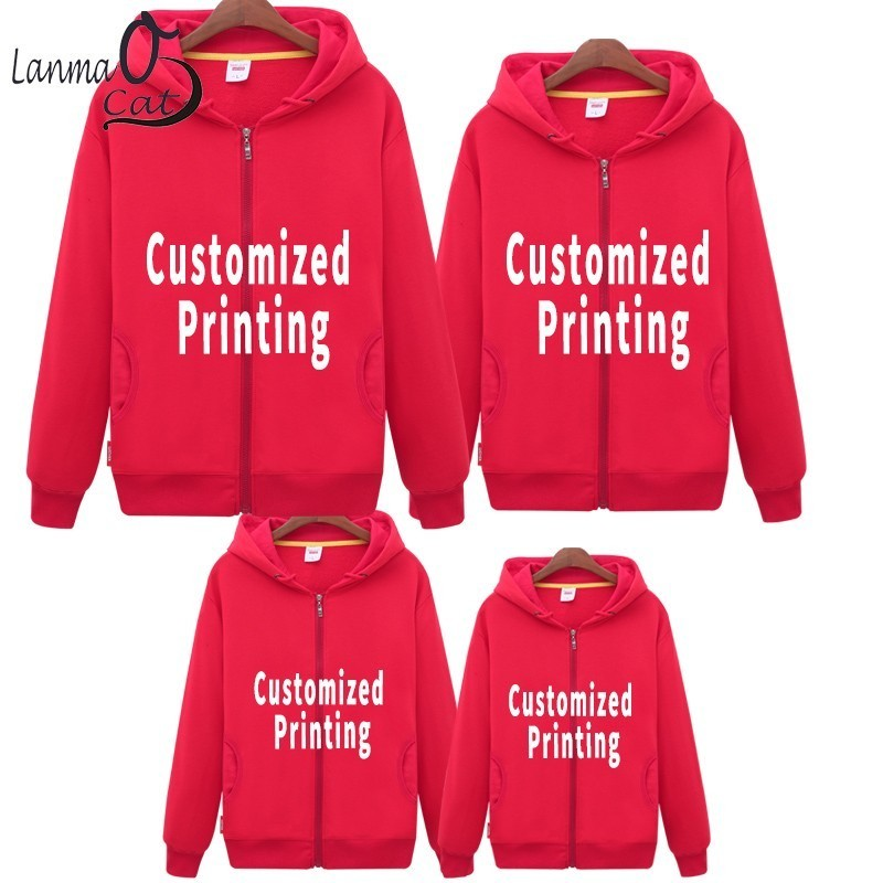 Lanmaocat Matching Clothes Family Dad Mother Daughter Clothes Hoodieds Personalized Cloth For Family Outfits Free Shipping