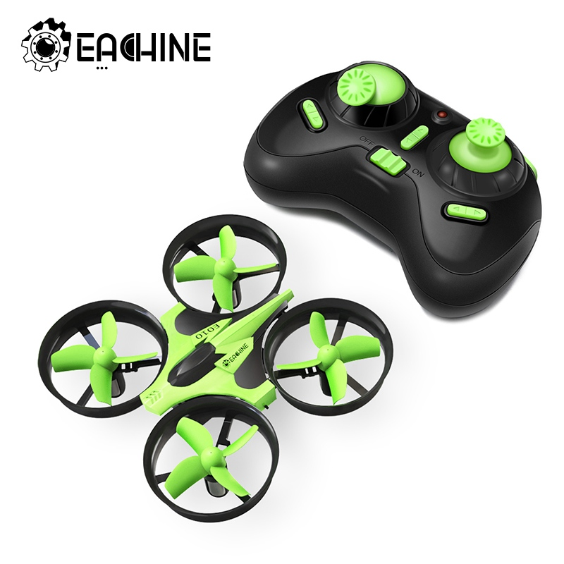 Nueva llegada Eachine E010 Mini 2,4g 4CH 6 eje 3D función de memoria de modo sin cabeza RC Quadcopter RTF RC minúsculo regalo niños Juguetes