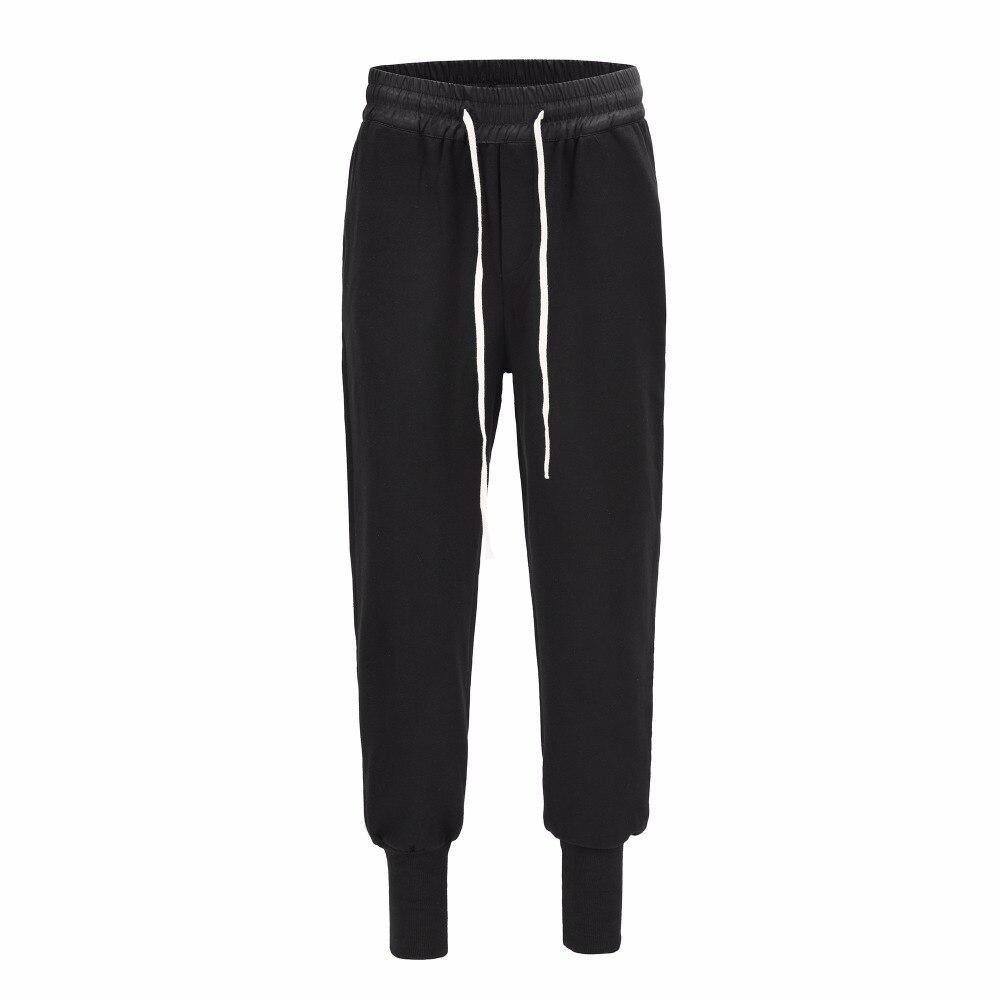 INS nouveau style RO haute qualité Europe amérique hommes femmes côtes pied reliure pantalon corde dessin Joker loisirs coton pantalons de survêtement