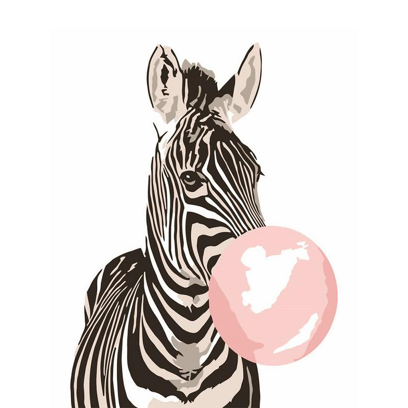 Diy Numbers Painting Colorful Zebra Digital Painting Kit Handmade Home Decoration Creative Painted Oil Painting Children Gift Paint By Number Aliexpress