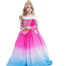 цена на Girls Sleeping Beauty Fairy Costume Cosplay Dress Halloween Costume For Kids Carnival Party Performance Suit