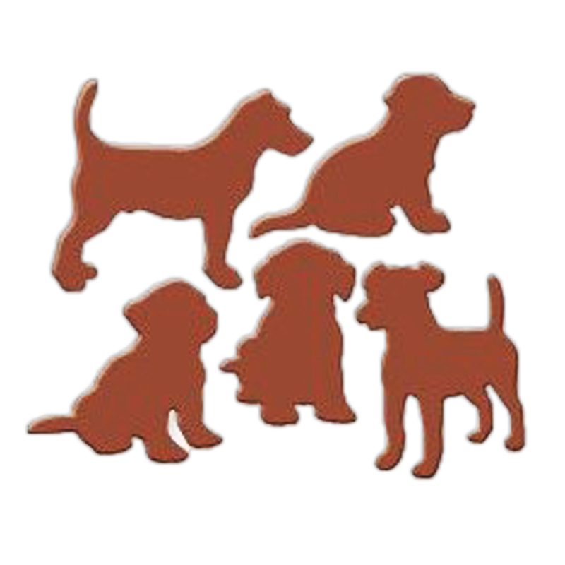 DIY wish Lovely Dogs Metal Cutting Dies Stencils for