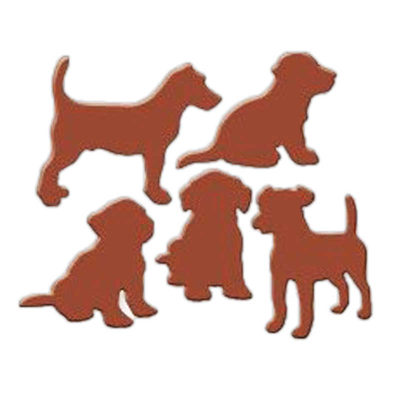Lovely Dogs Dies Metal Cutting Dies Stencils for Scrapbooking Album Craft Die Cut for Card Making Decoration Embossing