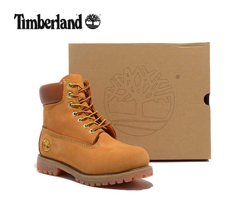 TIMBERLAND оригинальные мужские Премиум Нескользящие износостойкие  ботильоны для мужчин мужские золотые высокие натуральная кожа повседневная  обувь 6022df97832