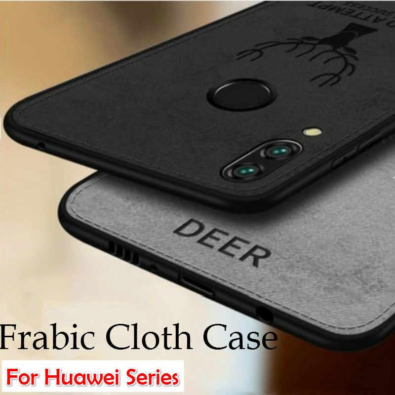Panno Morbido Cassa Del Telefono per Huawei P di Smart Plus 2019 P20 P30 Lite Honor 10i 20i 8S 8X 8A 8C Y6 Y7 Pro Y5 Y9 2019 Della Copertura Retro Capas