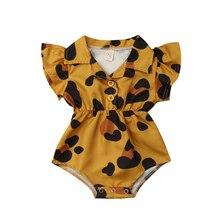 Блузка с цветочным рисунком для новорожденных девочек; боди; комбинезон; летний хлопковый комбинезон без рукавов с принтом; Милая модная одежда