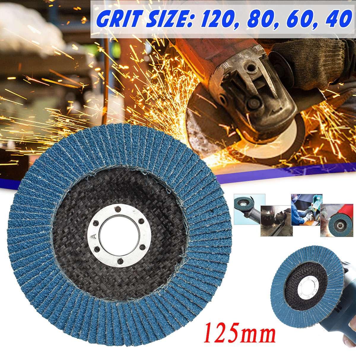 40/60/80/120 Grit Grinding Wheel Flap Disc 125mm 5