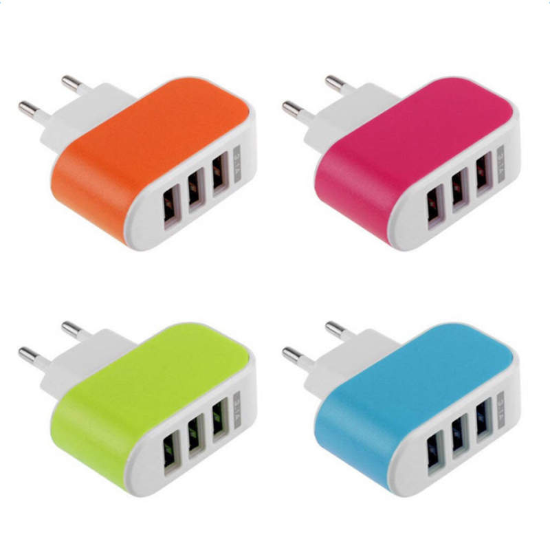 Image 3 - 2019 NEW Arrival 3 Ports 3.1A Triple USB Port Wall Home Travel AC Charger Adapter EU Plug Mobile Phone Charger Dropshipping-in Mobile Phone Chargers from Cellphones & Telecommunications