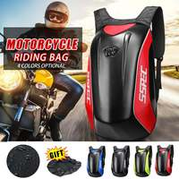 Universal Carbon Fiber Motorcycle Helmet Backpack Motocross Riding Racing Storage Bag Motorbike