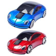 2,4 ГГц Беспроводная мышь Автомобильная форма 1600 dpi 3 клавиши оптическая игровая мышь для кабельный адаптор автомобильная форма мультяшная мышь