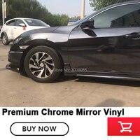 Высококачественный черный автомобиль хром зеркальный винил самоклеящаяся пленка электро покрытие для оклейки автомобиля автомобилей не л