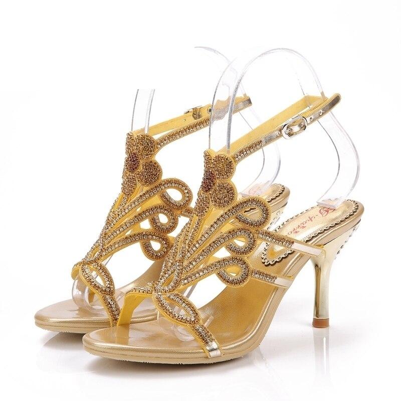 Chaussures Stilettos Petite Robe D'été Strass Haute gold Luxe Talons blue Cadeau 8cm Heels red Amie Fleur Ouvert Belle Heels Black Heels Pour De Formelle Bout Sandales Heels Partie Or vC00qU