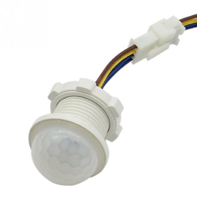 1 pçs 40mm ajustável pir infravermelho ray sensor de movimento tempo atraso interruptor detector modo ajustável para iluminação doméstica lâmpada led
