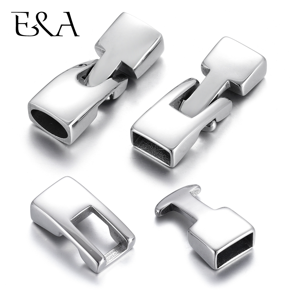 2sets Stainless Steel Toggle Clasps Leather Cord Connectors Hooks 10 5mm Hole for Making Bracelet DIY Jewelry Findings Supplies in Jewelry Findings Components from Jewelry Accessories