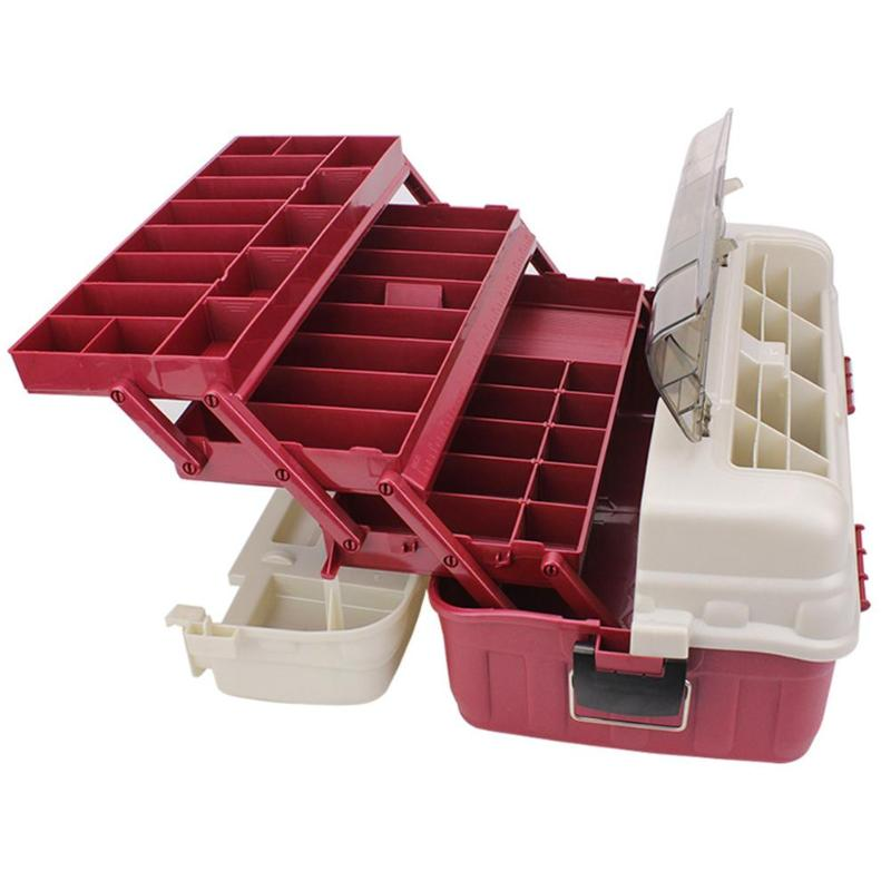 New Design Fishing Tackle Boxes 4 Layer Carp Fishing Lure Box Case Fishing Tackle Boxes Accessories Container Organizer