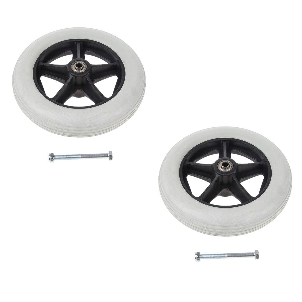 2 Stücke 8 Zoll Solide Reifen Vorne Caster Gehhilfen Rollstühle Ersatz Rad Abgrifffeste Stille