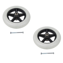 2pcs 8 Inch Solid Tyre Front Caster Walking Aids Wheelchairs Replacement Wheel Wearproof Silence