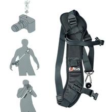 New Focus F-1 Quick Carry Speed Sling soft Shoulder Sling Belt Neck Strap For Canon Nikon Camera DSLR Black цена и фото
