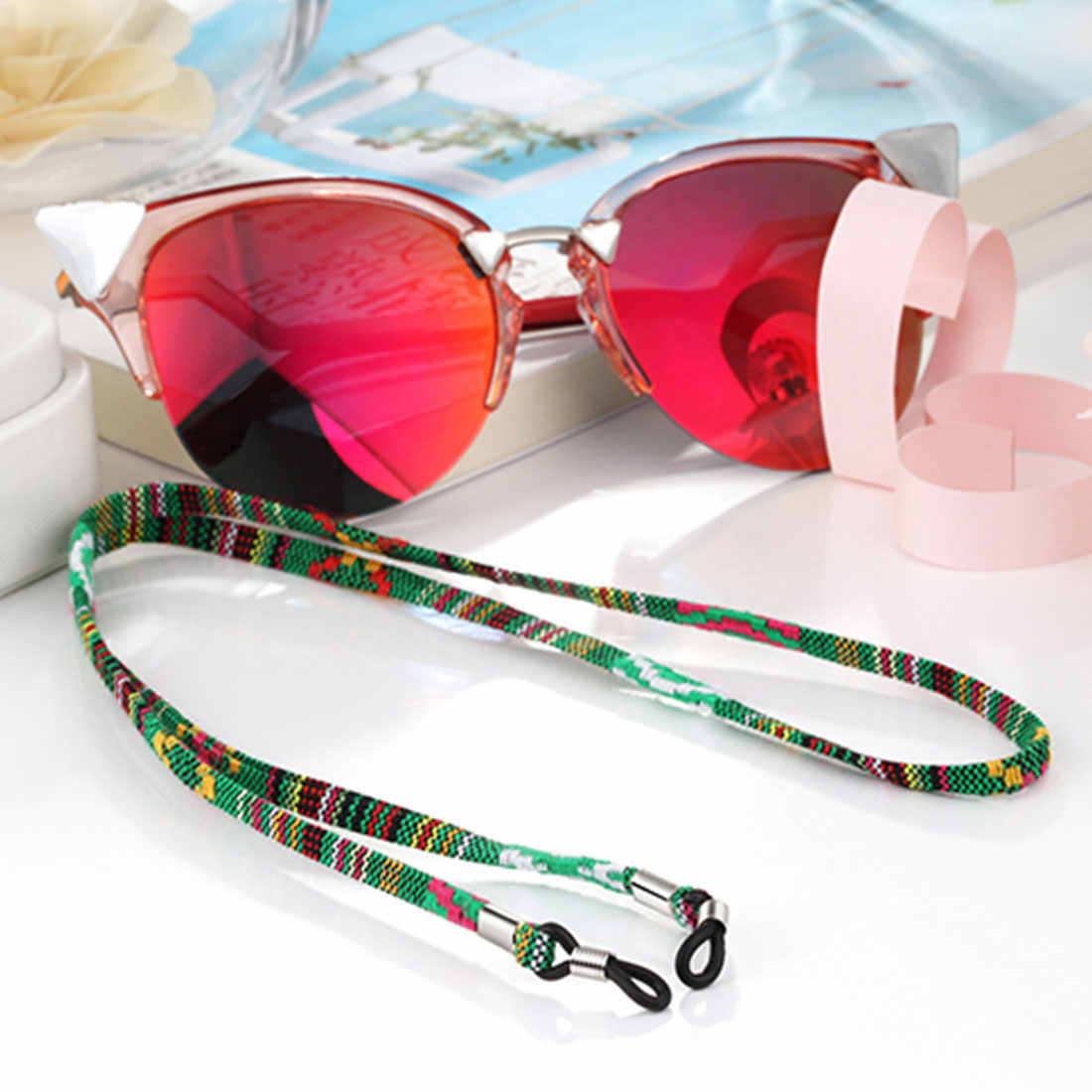 Woven Eyeglasses Chain Reading Glasses Rope  Ethnic Style Sunglasses Strap Cord Holder Neck Band Accessories