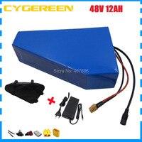 48 48 V bateria De Lítio V 12AH 48 V 12.5AH Triângulo ebike bateria uso da bateria 2500 mah de 18650 células carregador BMS 20A 2A com saco|Bateria de bicicleta elétrica| |  -