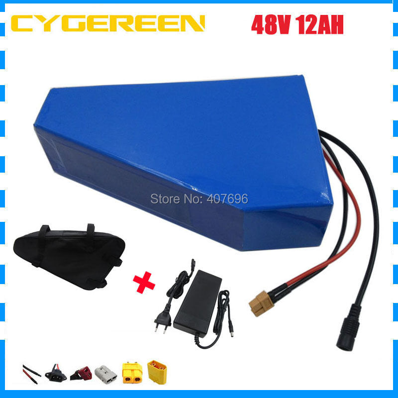 48V Lithium battery 48V 12AH battery pack 48V 12.5AH Triangle ebike battery use 2500mah 18650 cell 15A BMS 2A Charger with bag48V Lithium battery 48V 12AH battery pack 48V 12.5AH Triangle ebike battery use 2500mah 18650 cell 15A BMS 2A Charger with bag