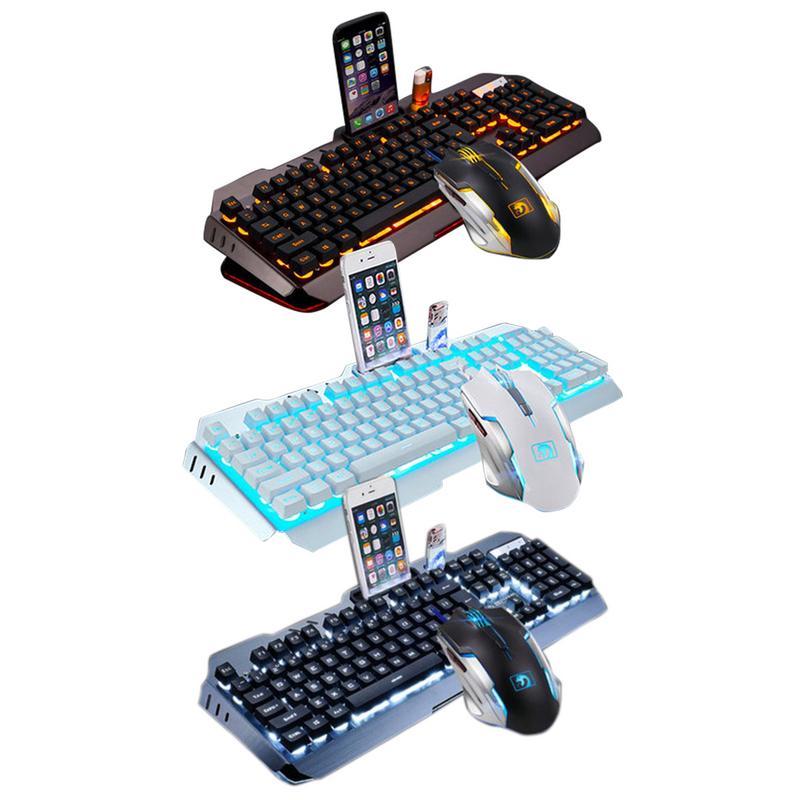 Fil contrôle ordinateur souris ensemble filaire LED rétro-éclairage mécanique clavier mécanique Gaming souris clavier