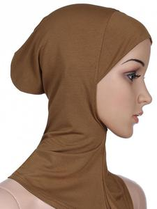 Image 5 - Women Ninja Head Cover Bonnet Hat Underscarf Muslim Turban Lady Cap Scarf Hat Skullies Beanies Beanies Full Cover Bonnet Fashion