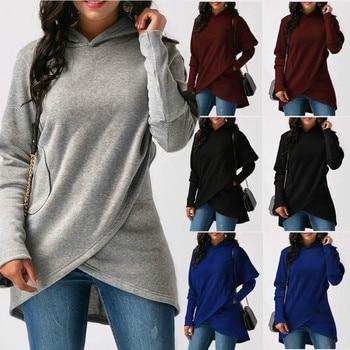цена на New Fashion Autumn Hoodies Lady Ladies Women Long Sleeve Top Tees Sweatshirt Jumper Hooded Pullover Tops Blouse Coat